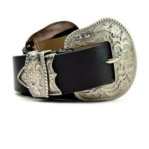 Steve Madden Double-Buckle Western Belt S/M New